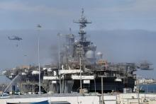 San Diego shipyard inks $10 million contract for Bonhomme Richard firefighting and cleanup